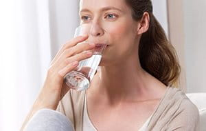 Drink plenty of water to prevent dry skin itching